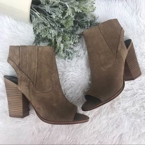 Dolce Vita Suede Leather Open Toe Slingback Mules